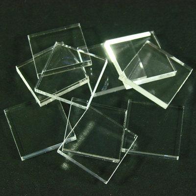 20mm Eck Bases - Transparent 3mm  - (10 Stk.) - Litko