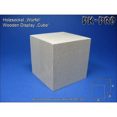 CP-Holzsockel-Würfel-50x50x50mm - PK-Pro