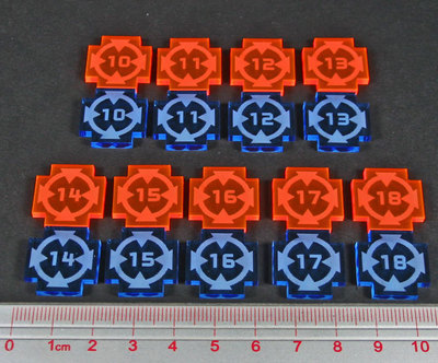 Space Fighter, Target Lock Tokens Set, #10-18 (18) - Litko