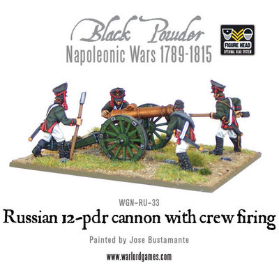 Russian 12 pdr cannon (1809-1815) - Black Powder - Warlord Games