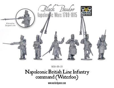 British Line Infantry command (Waterloo) - Black Powder - Warlord Games
