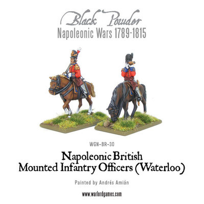 Mounted British Infantry Colonels (Waterloo) - Black Powder - Warlord Games