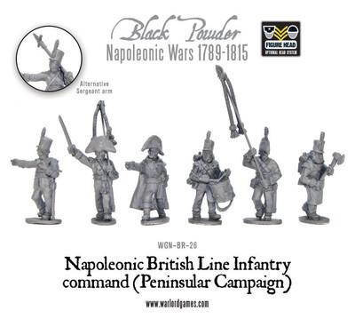 British Line Infantry command (Peninsular) - Black Powder - Warlord Games