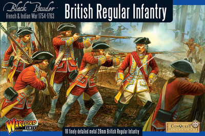 French-Indian War British Regular Infantry - Black Powder - Warlord Games