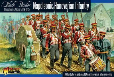 Napoleonic Hanoverian Line Infantry Regiment plastic boxed set - Black Powder - Warlord Games