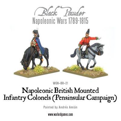 Mounted British Infantry Colonels (Peninsular) - Black Powder - Warlord Games