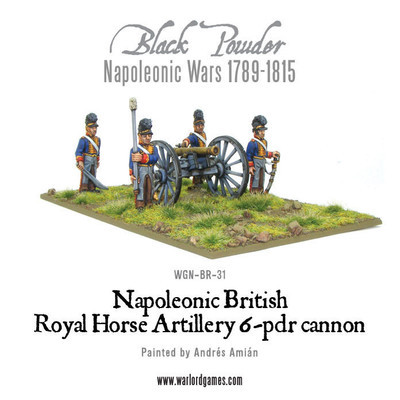 British Horse Artillery 6-pdr Cannon - Black Powder - Warlord Games