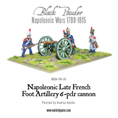 French 6 pounder Foot Artillery - Black Powder - Warlord Games