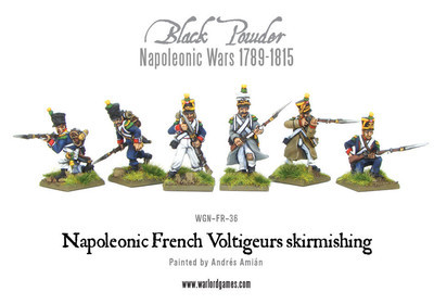 French Voltigeurs Skirmishing Voltiguers - Black Powder - Warlord Games