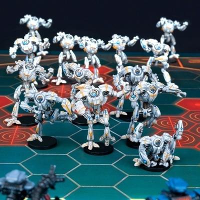 DreadBall Chromium Chargers Robot Team Box (12 Figuren) - Mantic Games