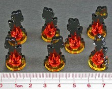 Small Flaming Wreckage Markers (7) - Litko