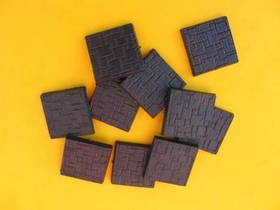 25x25mm Eck Bases - Texturiert  - (10 Stk.)