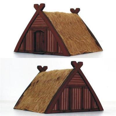Norse Storehouse/Hut - Speicher/Hütte bemalt - 4Ground