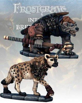 Gnoll Tracker & War Hyena - Frostgrave - Northstar Figures