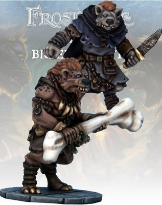 Gnoll Thief & Barbarian - Frostgrave - Northstar Figures