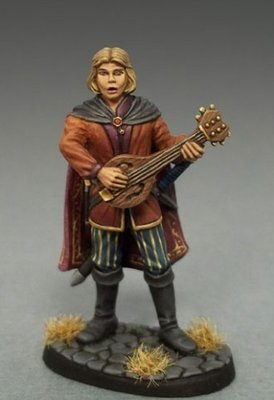 Male Bard W/Lute - Dark Sword Miniatures