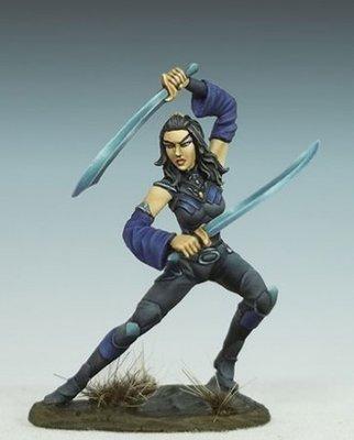 Female Elven Dual Wield Rogue - Dark Sword Miniatures
