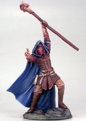 Male Mage with Staff - Dark Sword Miniatures