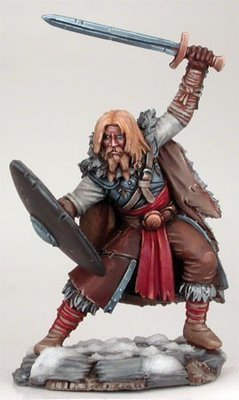 Wildling Warrior with Long Sword and Shield - Dark Sword Miniatures