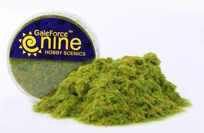 Hobby Round: Green Static Grass - Gale Force 9