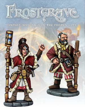 Chronomancer and Apprentice - Frostgrave - Northstar Figures