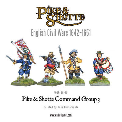 Pike & Shotte command group 3 - Pike & Shotte - Warlord Games