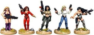 Babes with Guns - Future Wars - Copplestone Castings