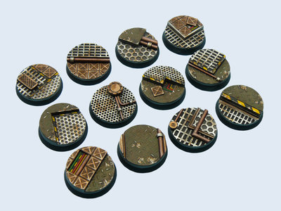 Tech Bases, Round 25mm (5) - Micro Art Studio