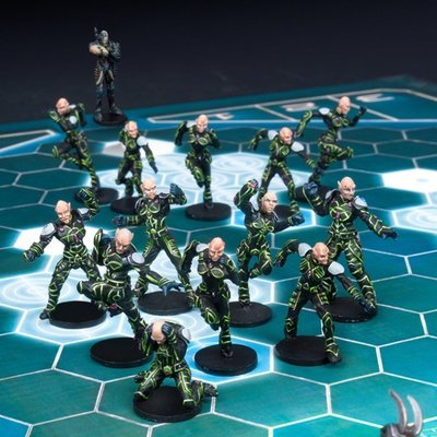 DreadBall Shan-Meeg Starhawks Asterian Team Box (14 Figuren)