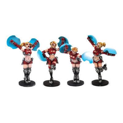 Dreadball Cheerleaders (4 Figuren)