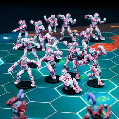 Void Sirens Corporation Female Human Team Box (8 Figuren)