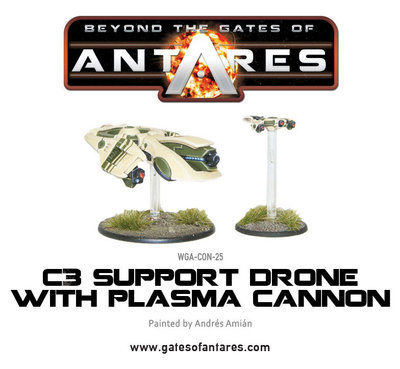 Concord C3 Plasma Drone with Plasma Cannon - Beyond The Gates Of Antares