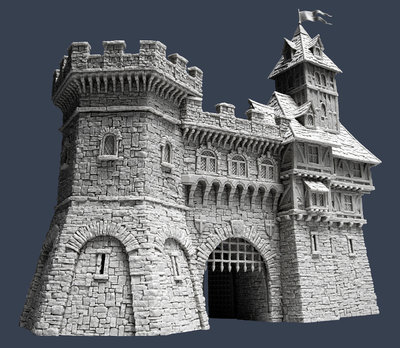 Town Gate - Stadttor - Tabletop World