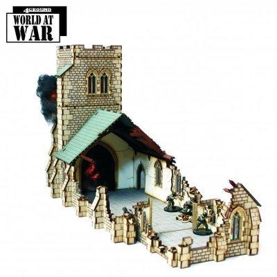 Damaged Parish Church - World at War - 4Ground