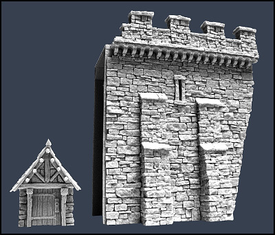 Section C Town Wall - Stadtmauer - Tabletop World