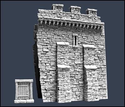 Section D Town Wall - Stadtmauer - Tabletop World