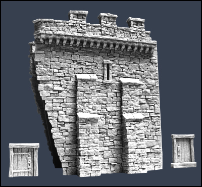 Section G Town Wall - Stadtmauer - Tabletop World