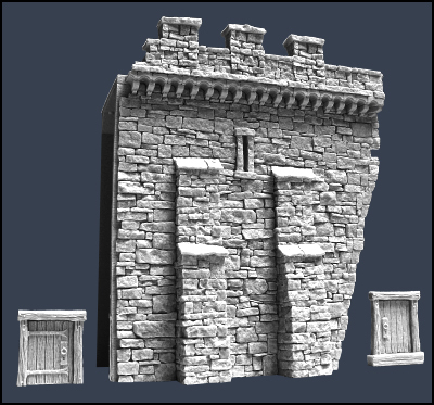 Section H Town Wall - Stadtmauer - Tabletop World