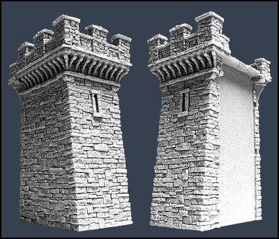 Section E Town Wall - Stadtmauer - Tabletop World