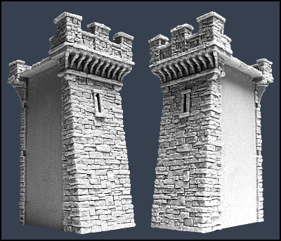 Section B Town Wall - Stadtmauer - Tabletop World