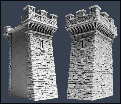 Section F Town Wall - Stadtmauer - Tabletop World