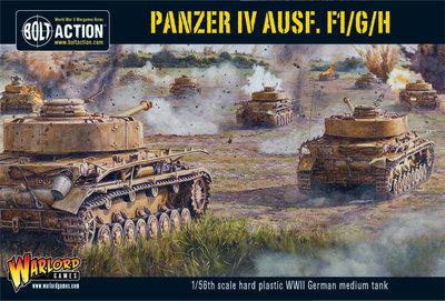 Plastic Panzer IV Ausf. F1/G/H medium tank - German - Bolt Action