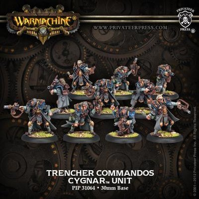 Cygnar Trencher Commandos Unit (10) - Warmachine - Privateer Press