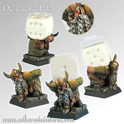 Dwarf Die Bearer - Scibor Miniatures