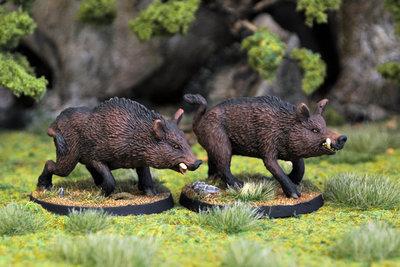 WE21b – Giant Boars II (2) - Otherworld Miniatures