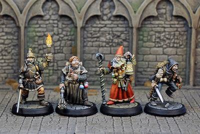 DAH1-4 – Human Male Fighter, Cleric, Thief & Magic User (4) - Otherworld Miniatures