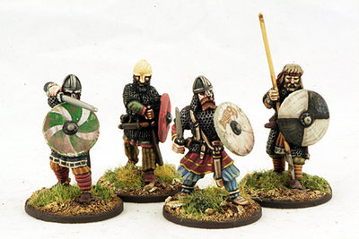 Viking Hirdmen (4) Hearthguard 1 pt - SAGA - Wikinger