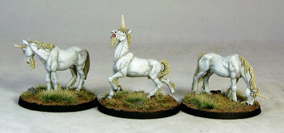 WE19 – Unicorns (3) - Otherworld Miniatures