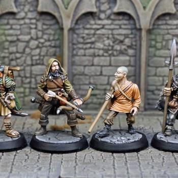 DAH5-8 – Human Male Druid, Ranger, Barbarian & Monk (4) - Otherworld Miniatures