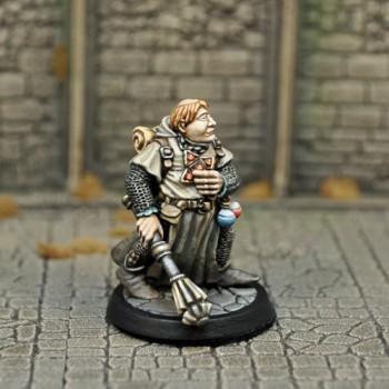 DAH2a – Human Male cleric v1 - Otherworld Miniatures